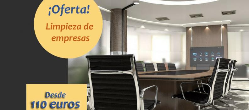 Servicio de limpieza para empresas desde 110 euros